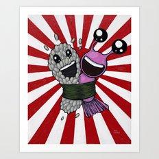 Sushi Hug Art Print