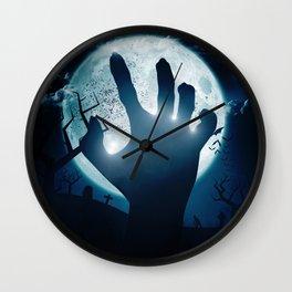 Zombies back Wall Clock