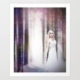 Dream in Snow Art Print