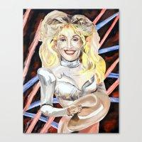 dolly parton Canvas Prints featuring Dolly Parton by MARTA BELTRAN