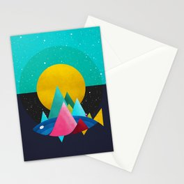 047 Owly travelling through vast cosmic sea Stationery Cards