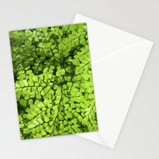 green wet fern IV Stationery Cards