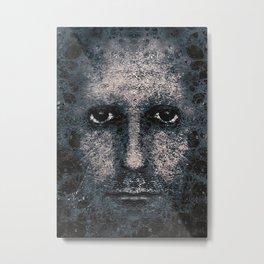 Foam Man Photo Manipulation Art Metal Print