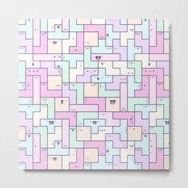 Kawaii Tetris Metal Print