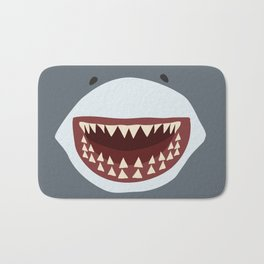 Shark Teeth Funny Kids Cartoon Smile Bath Mat