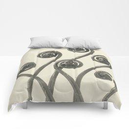 Vintage Fern Fiddleheads Comforters