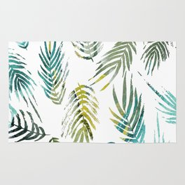 Tropic of Conversation Botanical Print Rug