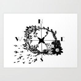 Compass Rose Garden Art Print