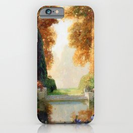 Silver and Gold - Luxuriant Autumn Garden by Thomas Mostyn iPhone Case