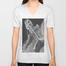 Tear Drops on Ibiscus Unisex V-Neck