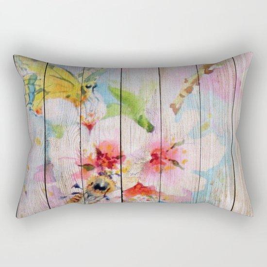 Spring on Wood 01 Rectangular Pillow