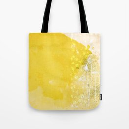 Watercolor Dandelions:  Artistic bold yellow on white Tote Bag