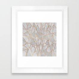 Shattered Concrete Framed Art Print