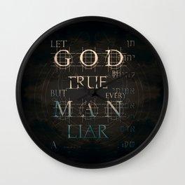 Let God Be True Wall Clock