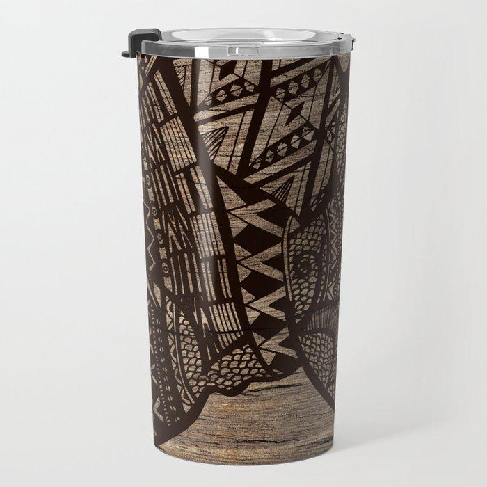 Wood Rhino Black Travel Mug