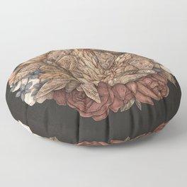 Flowers and Moths Floor Pillow