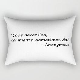 Code never lies Rectangular Pillow