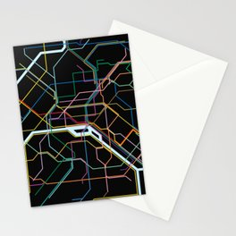 Paris Subway Map Stationery Cards