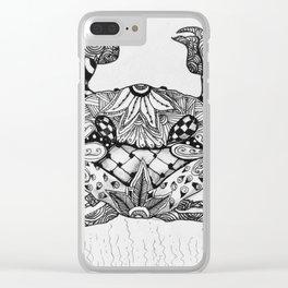 Zen Crab Clear iPhone Case