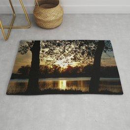 Kansas Golden Sunset Reflection Rug