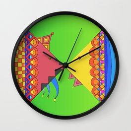 kissing fish Wall Clock