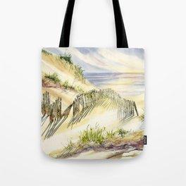 Shoreline Dune Shadows Across Lake Tote Bag