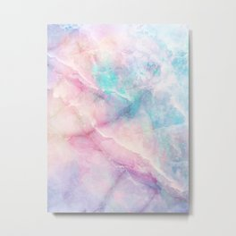 Iridescent marble Metal Print