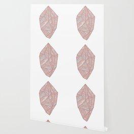 Pastel Pink Geometric Gemstone Wallpaper