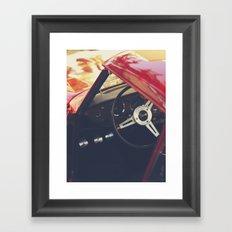 Fine art print, classic car, triumph, spitfire, color photo, still life, interior design, old car Framed Art Print