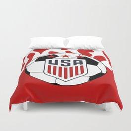 United States Soccer Duvet Cover