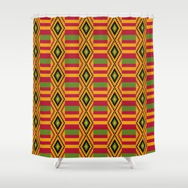 African kente pattern 4 Shower Curtain
