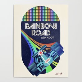 Rainbow Road Grand Prix Poster