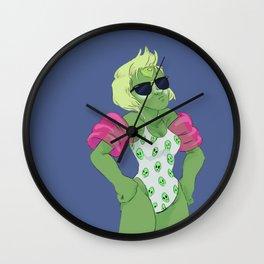 peridot is beach ready Wall Clock