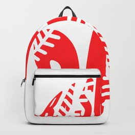Love Baseball best Softballl Quote and  Design Backpack