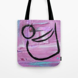 Bow pose abstract Tote Bag