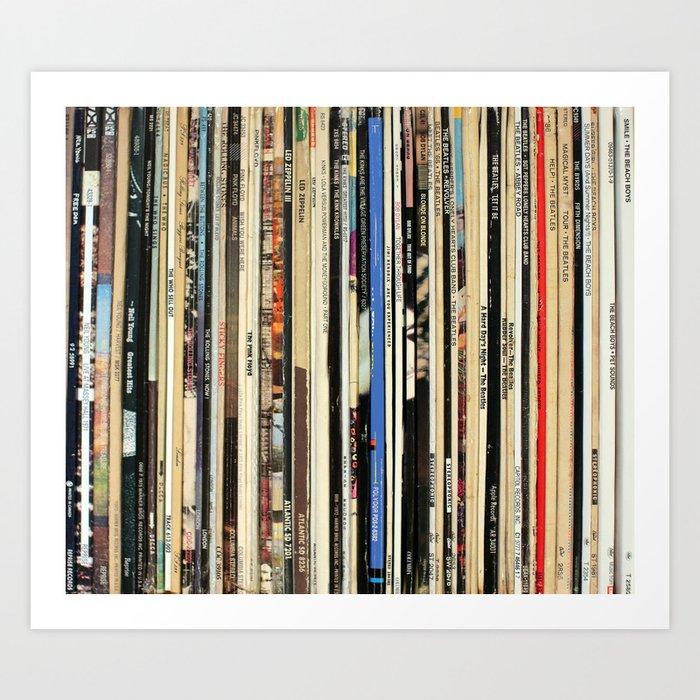 Classic Rock Vinyl Records Art Print by nmtdot
