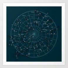 Space Hangout Art Print