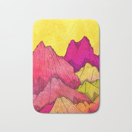 Heat Wave Mountains Bath Mat