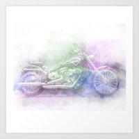 harley Art Prints featuring Harley by NKlein Design