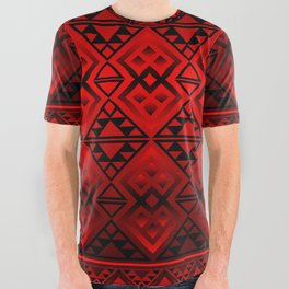 The Lodge (Red) All Over Graphic Tee