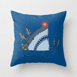 Rudolph Shark Throw Pillow