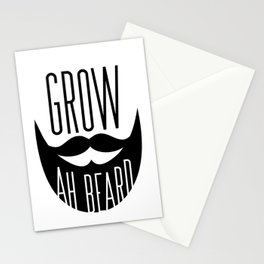 Grow Ah Beard Stationery Cards