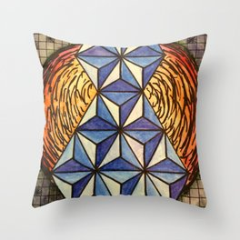 Geo Space Throw Pillow