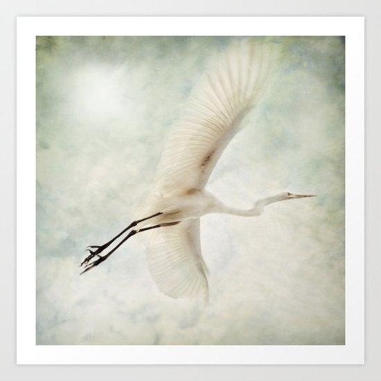 White Flight Art Print