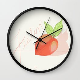 Feeling peachy Wall Clock