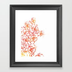 Burning up Framed Art Print