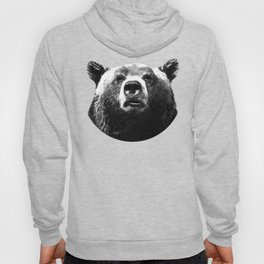 Black and white bear portrait Hoody