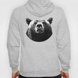 Black and white bear portrait Hoody
