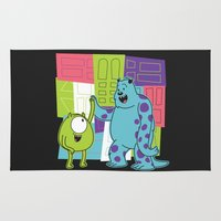 monster inc Area & Throw Rugs featuring Monster Time by Moysche Designs
