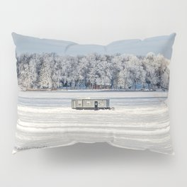 Afternoon Ice Fishing Pillow Sham